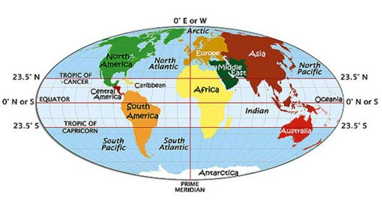 Blog Archives - World map 7 continents 4 oceans